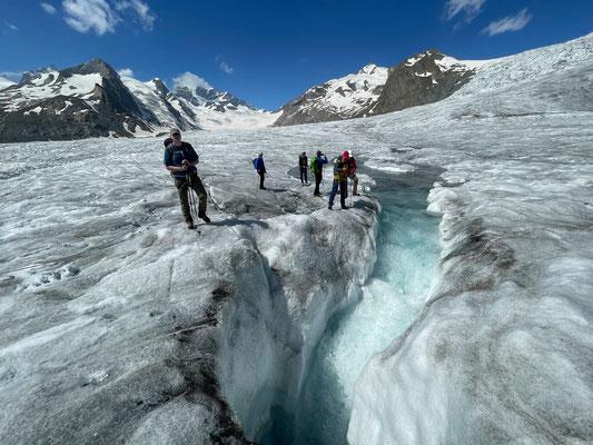 Häufig bin ich für Grindelwald Sports auf dem Aletschgletscher unterwegs