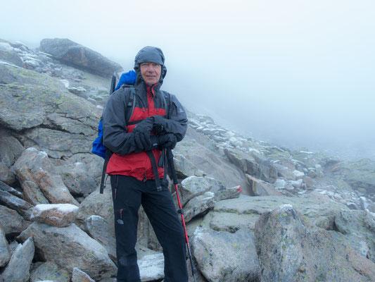 Jürgen nimmts gelassen und freut sich ob der Traversierung Zermatt-Zinal