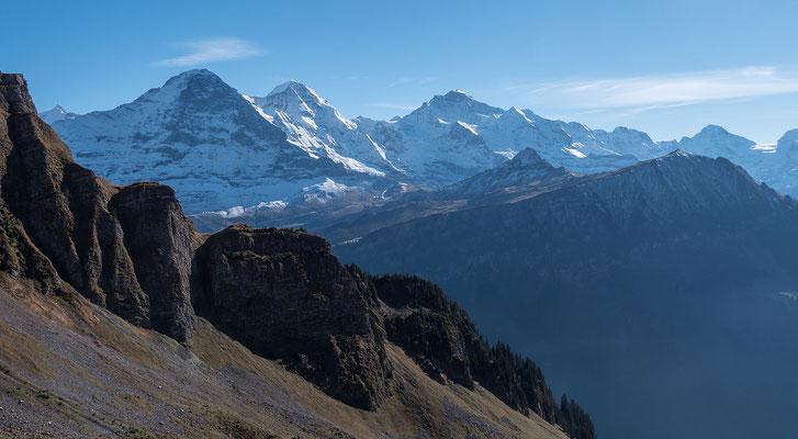 Mit einem letzten Blick und schönen Aussichten verabschieden wir uns von einem herrlichen Klettertag