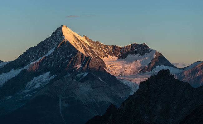 Das Weisshorn, Traumberg vieler Bergsteiger, so auch für Franziska und mich