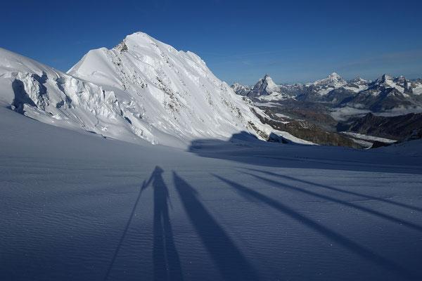 Die nächsten Träume vor Augen, Liskamm, Dent d`Hérens, Matterhorn, Dent Blanche, Grand Cornier, Obergabelhorn, Wellenkuppe
