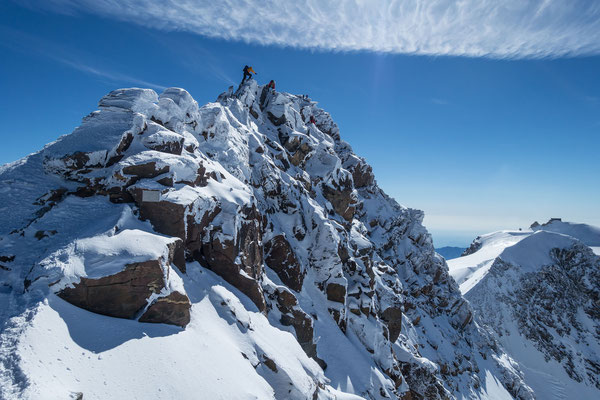 Anregende kombinierte Stellen führen zum höchsten Punkt der Schweiz