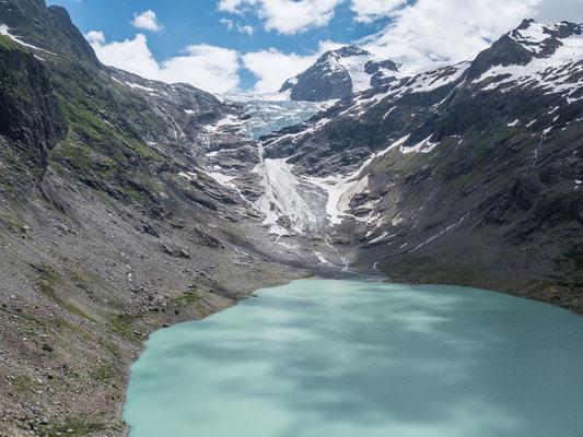 Der Triftsee und das schwindende Eis des Obre Absturz