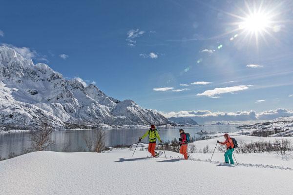 Schneeschuhtouren auf Lofoten steckt noch in den Kinderschuhen, wird aber der ganz grosse Renner in den kommenden Jahren