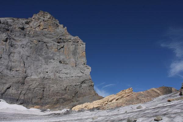 Titlis Südwand, rechts das Grassenbiwak