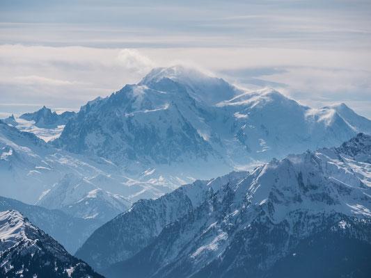 Föhnsturm am Mont Blanc