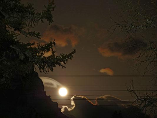 Der Mond kommt, aber ganz woanders, als ich mir das vorgestellt habe