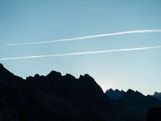 Der Chanzelgrat vor Sonnenaufgang