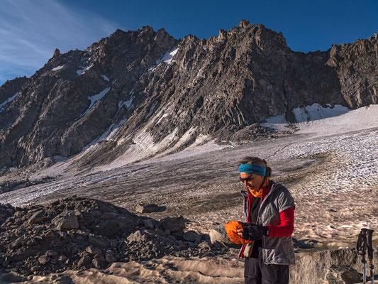 die Gletscher schwinden, die Nordflanke des Portalet war einmal eine beliebte Eistour