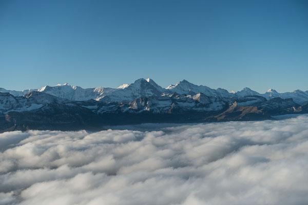 Prächtiger Blick zu den Berner Alpen