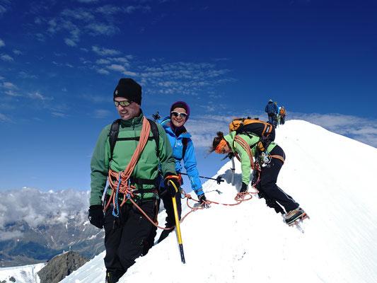 Akrobatisches Ausweichmanöver am Breithorn