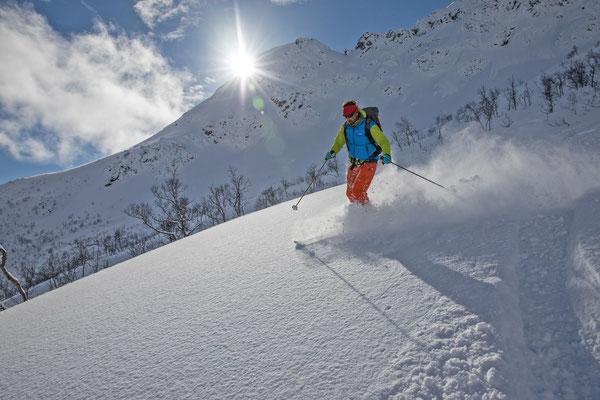 Carlo, Lofotensprofi und ab nächstem Jahr auch mit den Schneeschuhen hier anzutreffen