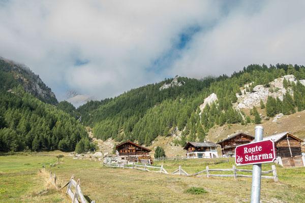 Ausgangspunkt zu meiner Unternehmung ist Satarma im Val d`Arolla