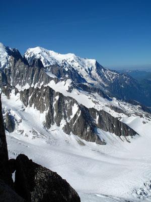 Blick von der Aig. du Tour auf den Mont Blanc