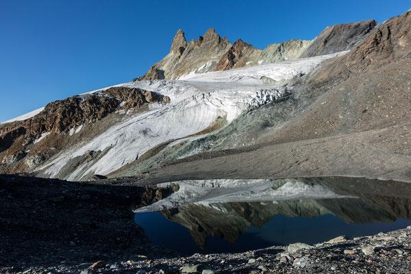 ...da war vor nicht allzu langer Zeit noch der Glacier Superieur-des-Aiguilles Rouges