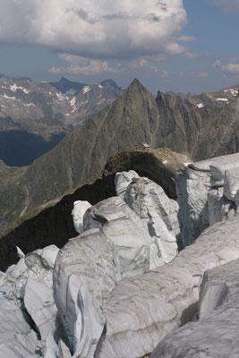 Eistürme vor der Tierberglihütte