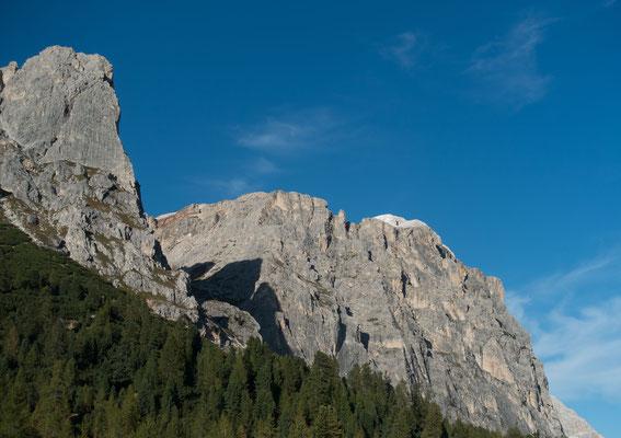 Blick vom Ristorante Strobel auf den Col dei Bos