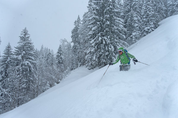 Franziskas Ski dürfte aber noch ein bisschen breiter sein...
