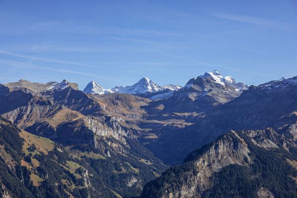 Schwalmere, Hohganthorn und Drättehorn links vom Eiger