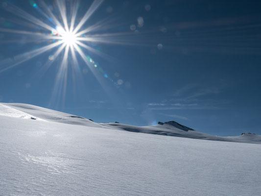 Die weiten Schneeflächen des Dammastock
