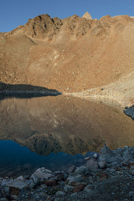 Die Seen unterhalb der Aiguilles Rouges d`Arolla sind alle noch namenlos, kein Wunder, denn...