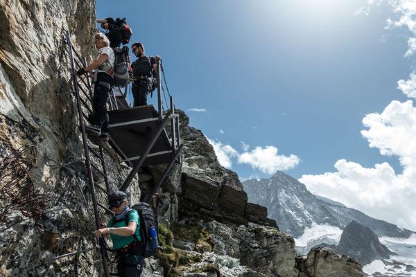 Der Leiterabstieg am Pas de Chêvres ist auch nicht mehr so spektakulär, wie er einmal war