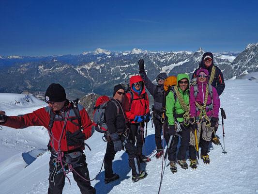 Gipfelstimmung auf dem Breithorn