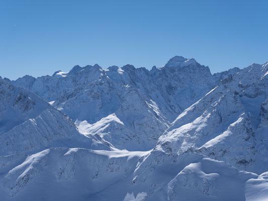 Die Barre des Ecrins, einziger Viertausender im Gebiet und zugleich westlichster 4000er im gesamten Alpenraum