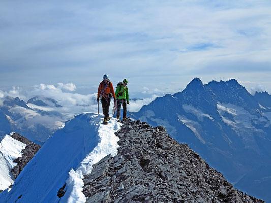 Mit Dominik auf dem Gipfel des Eigers