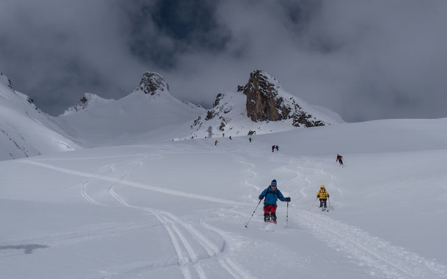 Auch wenn der Ausflug Richtung Col du Galibier recht kurz ist, die Abfahrt kann sich trotzdem sehen lassen