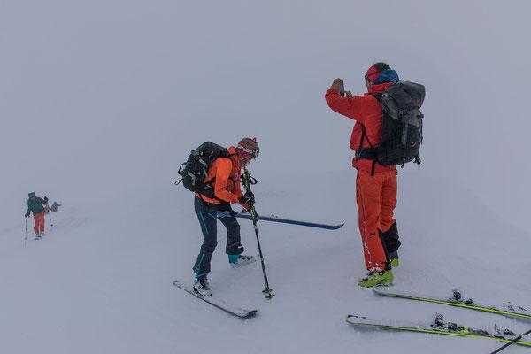 Alles gut Sichern, hier zum Beispiel auf dem Gipfel des Rundfjellet