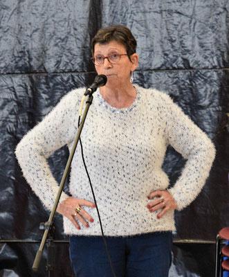 Marie-Françoise Jeuland racontant un monologue