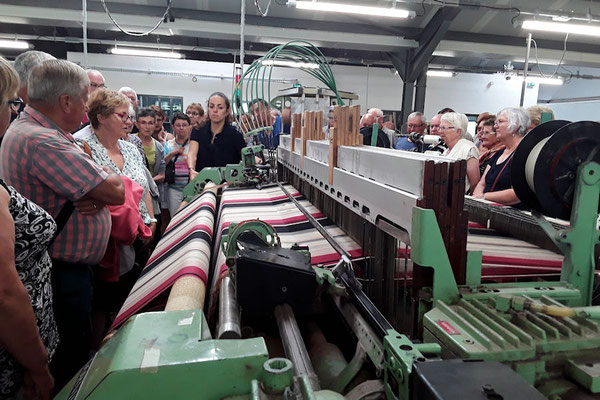 Découverte de la fabrique de toile basque à Ascain