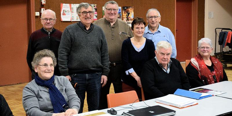 Bernard Guais, Jean-Pierre Mounier,  Roger Petipas, Marie-Thérèse Dufeu et Jean-Claude Lamy