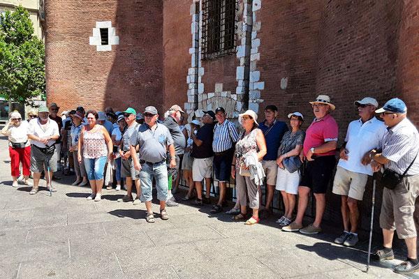 Vendredi 6 juillet : Visite de Perpignan - à l'ombre en attendant le petit train