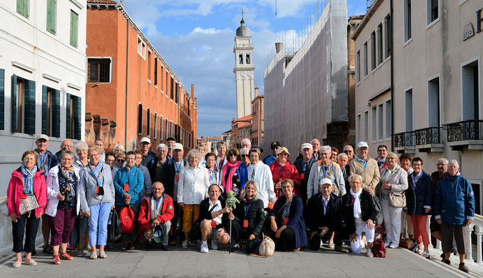 Mardi 10 septembre : Venise photo de groupe