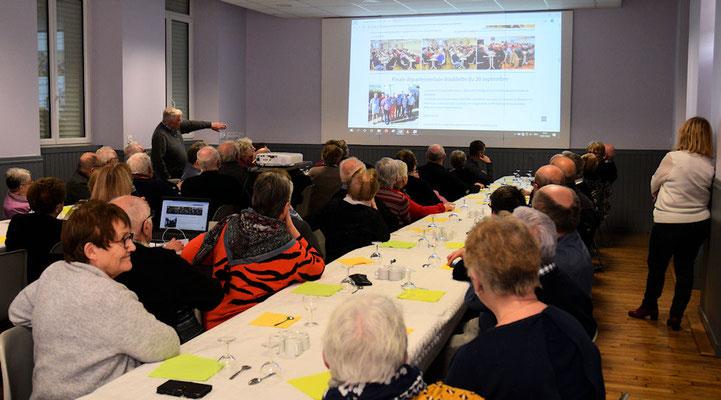 Une rétrospective des activités de l'année 2019 pour les adhérents