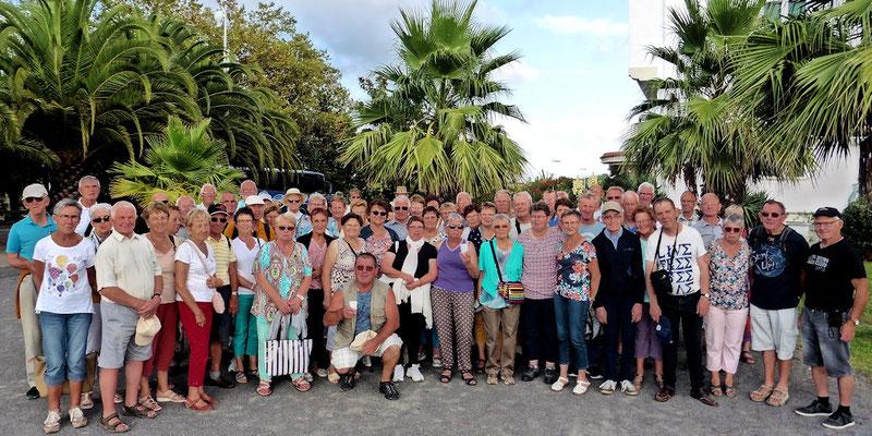 Le groupe au port d'Hendaye
