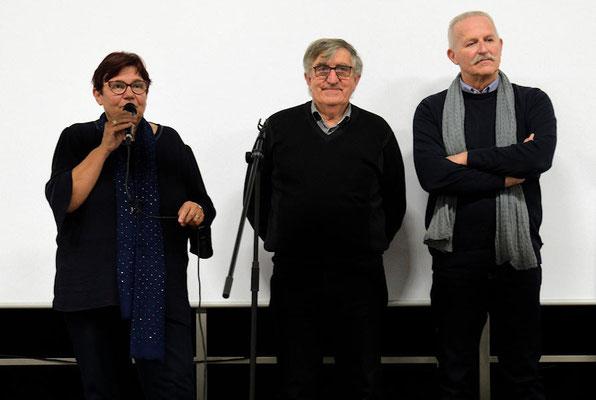 Jean-Pierre Mounier porteur du projet entouré de Mme Charlot et Mr Jean-Pierre Robert, président-adjoint de GEMOUV35