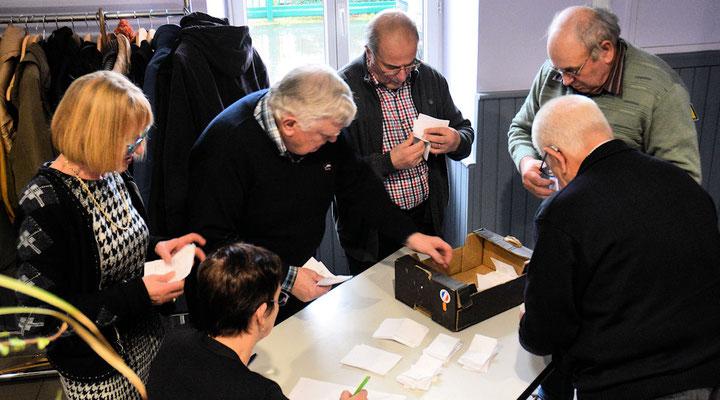 Le dépouillement du vote des adhérents
