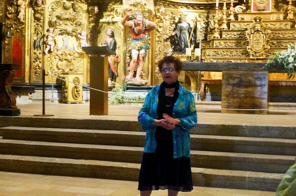 Thérèse interprête l'Avé Maria de Shubert en l'Eglise de Villefranche de Conflent