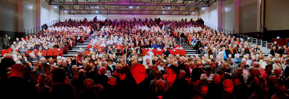 Environ 1500 adhérents présents à l'Espace Aumaillerie de Fougères
