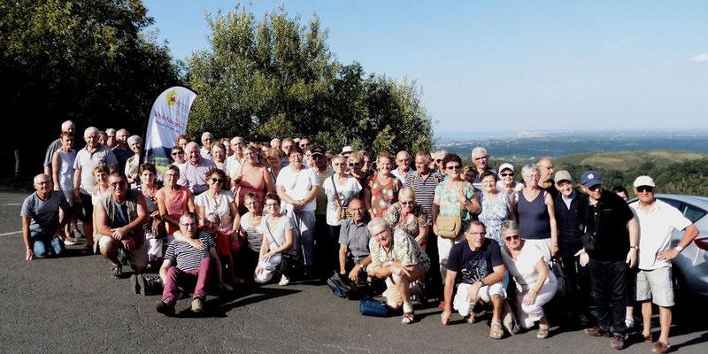 Le groupe au col en Espagne