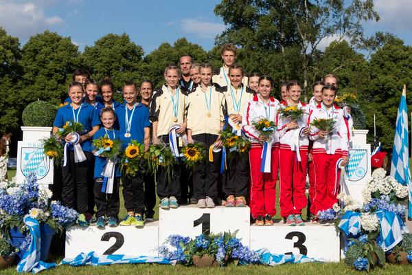 Auch im Wettbewerb der Junioren lag der VV I vorn, vor Gilching und Franken.
