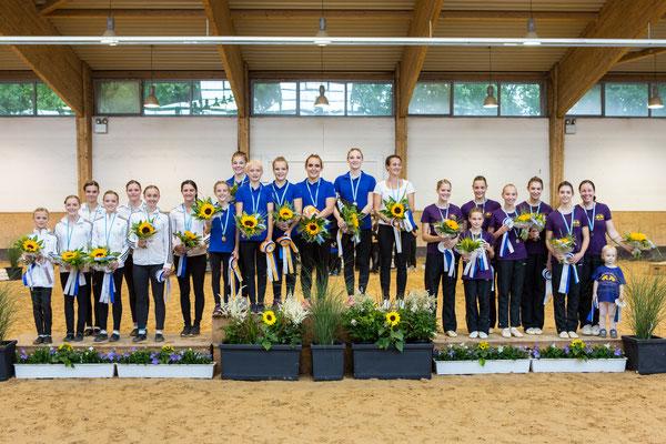 Bayerischer Meister Junior-Teams: 1. VV Ingelsberg, 2. RG gut Waffenschmiede, 3. RVV München-Daglfing