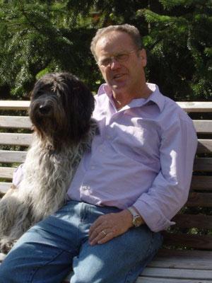 Schapendoes Denney mit Herrchen Gerd