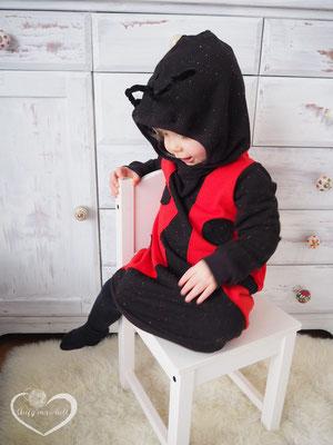 Lybstes. Kostum, Faschingskostüm selber nähen für Kinder, Marienkäfer-Kostüm