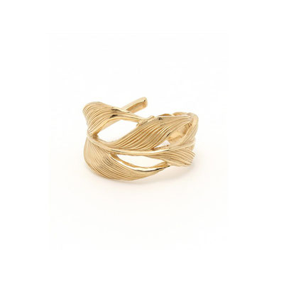 HARIM  Owl Feather ring K18coating