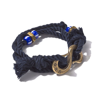 G&B -Wrap Rope S-Hook Bracelet Navy