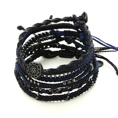 wakami earthbracelet 7strand - navy (japan limited model)
